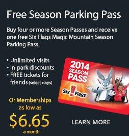 Magic mountain season pass coupon book