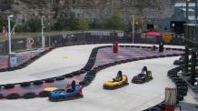Guests racing around Go-Kart track
