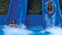 Guests on black river falls water slides