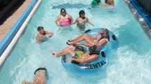 Guests float in the lazy river