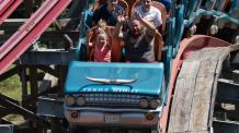 Guests enjoying the final hills of New Texas Giant