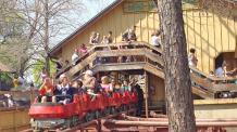 Guests ride the Mini Mine Train