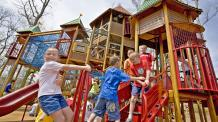 Young guests enjoy a playground