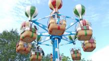 Guests ride Cloud Bouncer
