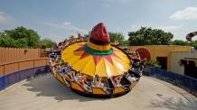 Guests rock and roll on a giant sombrero
