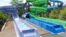 Hurricane Falls water slides at Six Flags New England Hurricane Harbor