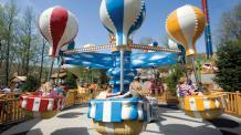Air balloon themed ride cars