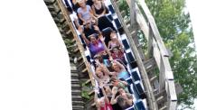 Guests on Roar roller coaster