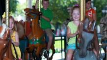 Children on the Silver Star Carousel
