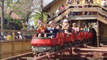 People riding Mini Mine Train