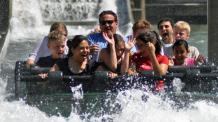 Guests get splashed on Monsoon Falls