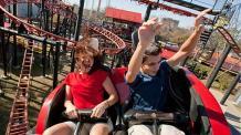 Guests riding Pandemonium