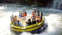 Guests riding Thunder River