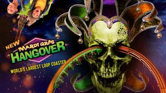 Mardi Gras Hangover Key Art with Skull