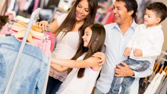 Family shopping for apparel