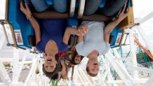 Teens on a coaster