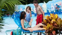 family at wave pool