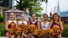 Cheerleaders in a group photo.