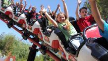 Kids on coaster