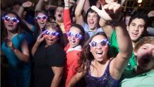 High School Seniors Celebrating during Grad Nite at Six Flags New Enlgand