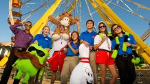 Six Flags employees smiling