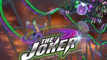 THE JOKER 4D Coaster logo and art