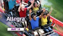 People on a coaster for Allegra Day