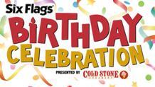 Six Flags Birthday Celebration logo