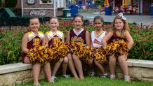cheerleaders at cheerleading workshop