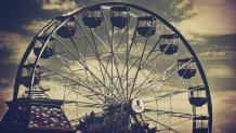 Spooky image of Crow's Nest ferris wheel