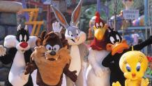 group of Looney Tunes characters posing together