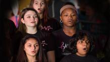 group of girls singing