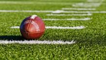 football on football field
