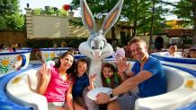 family on ride with Bugs Bunny