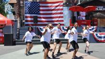 Dance performance at July 4th Fest