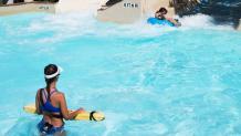 Lifeguard at Raging Rapids in Six Flags Hurricane Harbor