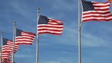 American Flags at Memorial Day Weekend