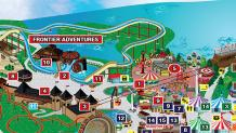 Six Flags Great Adventure Map - Frontier Adventure area