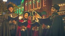 New England Classic Carolers during Holiday in the Park at Six Flags New England