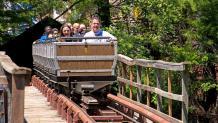 Guests enjoying their ride on the Runaway Mine Train