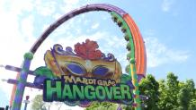 Mardi Gras Hangover with Mardi Gras Sign