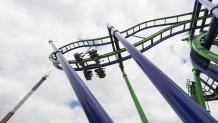 Riders flip out on THE JOKER roller coaster