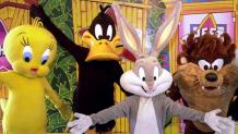 Looney Tunes characters welcome guests