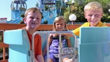 Kids get ready to ride Texas Tea Cups