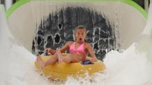 Girl on Big Kahuna water slide