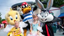 kids in Halloween costumes with Looney Tunes Characters