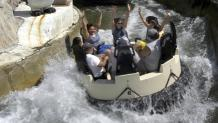 Raft of guests enjoy Blizzard River at Six Flags New England