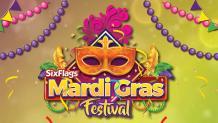 Mardi gras festival at Six Flags America