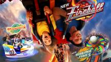 Fireball, Insanity and Hurricane Force 5 coasters