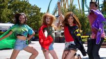 teens with capes at six flags magic mountain